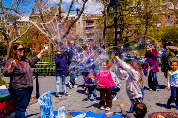 Bubbles in Washington Sq Park