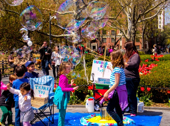 Bubbles Wash Square Park 2