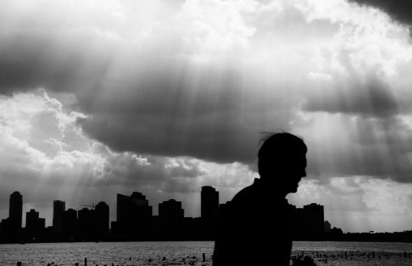 Hudson River silhouette