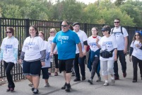 survivor and friends on the walk