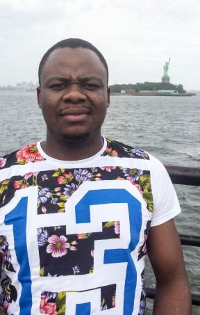 Kolowale at the Statue of Liberty
