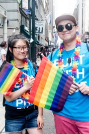 couple with Pride flags